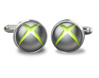 Xbox Inspired - Mens Cuff links- cufflinks -Fathers Day- Birthday Gifts for Men