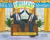 Vintage  Bill & Al's Excellent Adventure A Paper Doll Book  Clinton   1994