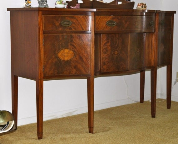 sale sideboard buffet hutch credenza serpentine bow front