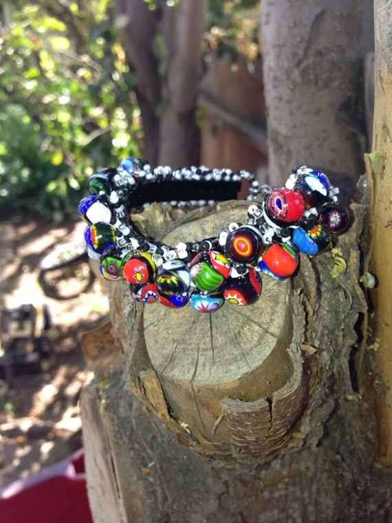 Black & White w/ colorful beads