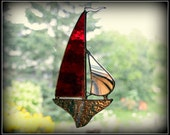 Sail Boat - Stained Glass