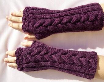 purple knit winter gloves, knit mitten, autumn gloves, winter accessories, autumn mittens, autumn accessories, warm mitten, Exclusive gloves