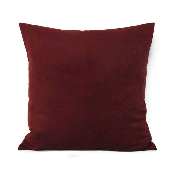 Burgundy Microfiber Throw Pillows : Throw Pillow Cover Wine Home Decor Decorative by GigglesOfDelight