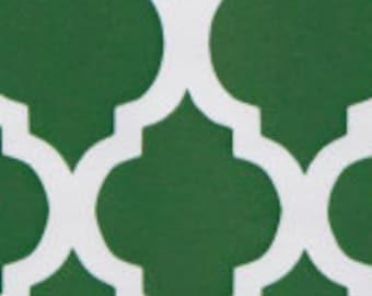 HALF YARD Kelly Green Quatrefoil Fabric Finders Cotton Fabric