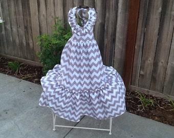 Girls Emmaline Chevron Maxi Halter Dress in sizes 5-10