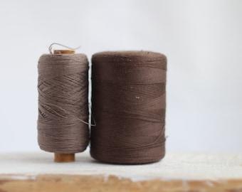 Soviet Vintage Thread Spools - set of 2 - Brown