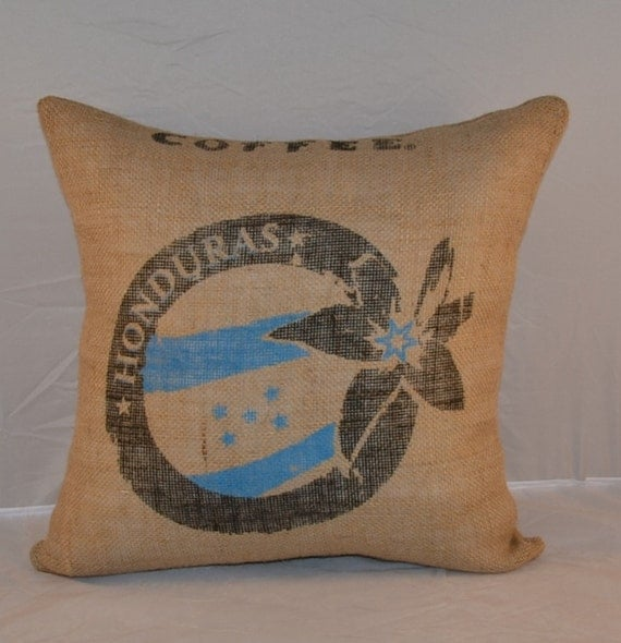 Burlap fabric pillows decorative pillow throw by OldLakeGeorge