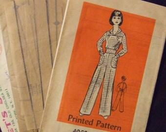 Let's Sew 4969  Size 13 Jumpsuit envelope has 1977 postmark  UNCUT