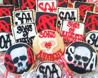 Sons of Anarchy inspired cookies