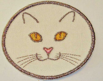 Iron-On Patch -CAT FACE