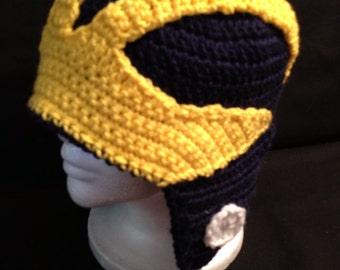 University of Michigan Inspired  Helmet Hat