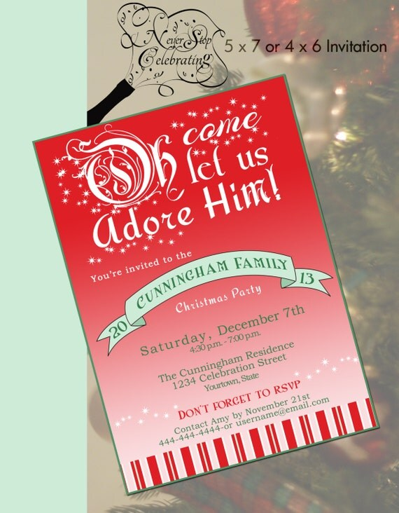 Items similar to Christian Christmas Party Invitation on Etsy