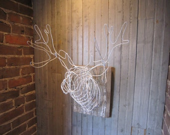 Faux Taxidermy Large Deer Head Sculpture