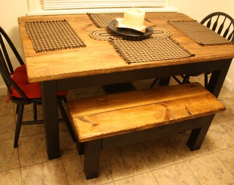 rustic table cabin farmhouse kitchen farm house dining reclaimed wood table burnt golden oak kettle. beautiful ideas. Home Design Ideas