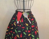 Classic Women's Half Apron with Pockets - Adjustable size, assorted patterns