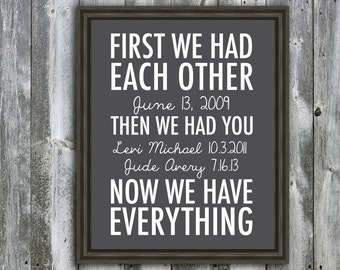 Personalized Marriage and Children Quote - Wall Art - Customizable- Anniversary Gift