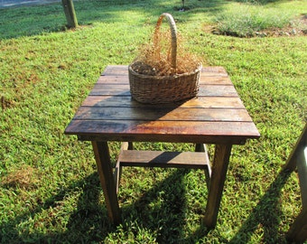 Rustic End Table, Wood Table, Reclaimed Wood, Side Table, Bedside Table, Rustic Furniture, Rustic Living, wholesale