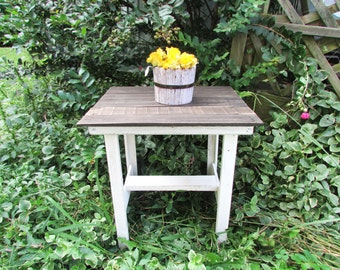Farmhouse Style End Table, Country Cottage Table, French Country Table, Rustic Furniture, CountryTable, End Table, Bedside Table