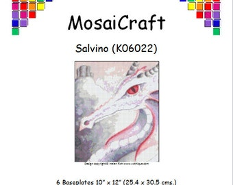 MosaiCraft Pixel Craft Mosaic Art Kit 'Salvino' (Like Mini Mosaic and Paint by Numbers)