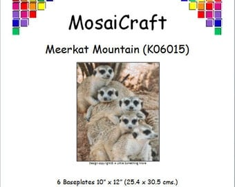 MosaiCraft Pixel Craft Mosaic Art Kit 'Meerkat Mountain' (Like Mini Mosaic and Paint by Numbers)