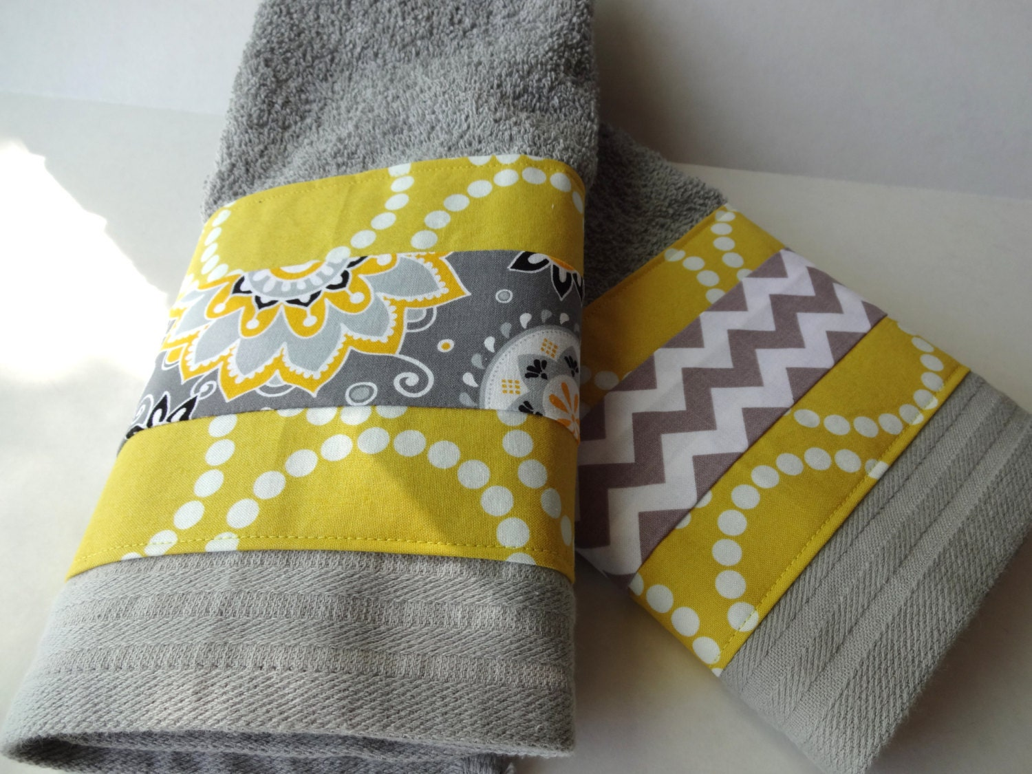 Bathroom towels grey and yellow towels gray towels yellow for Yellow and gray bathroom sets