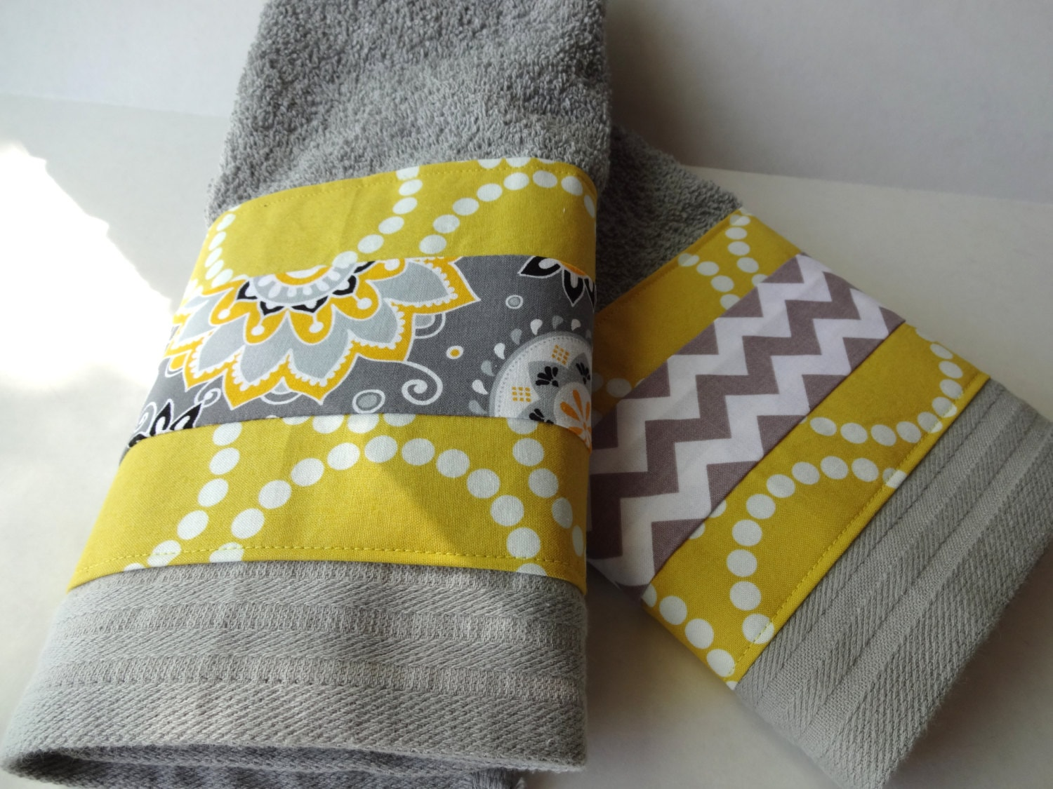 Bathroom towels grey and yellow towels gray towels yellow for Yellow and grey bathroom sets