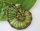 Nautilus necklace in green gift boxed By Artisan Jessica Free