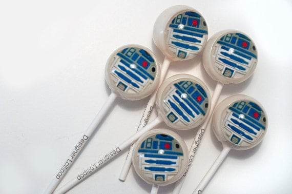 6 ROBOT lollipops TM Designer Lollipop
