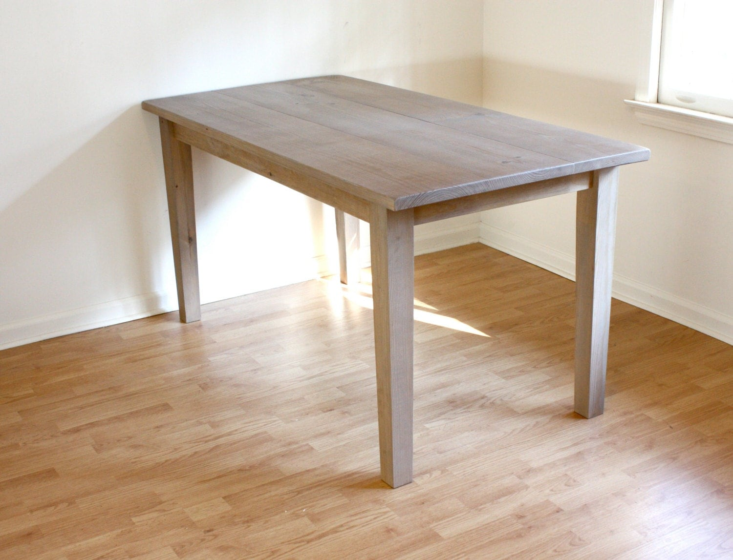 Handmade rustic farmhouse table reclaimed wood dining table for Handmade kitchen table