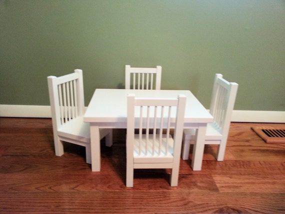 Table And Chair Set For American Girl Doll Any By