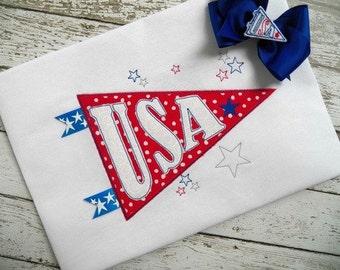USA PENNANT Machine Embroidery design