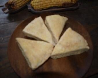 Fake Corn Bread Slices (4) - Farmhouse, Primitive, Country Home Decor