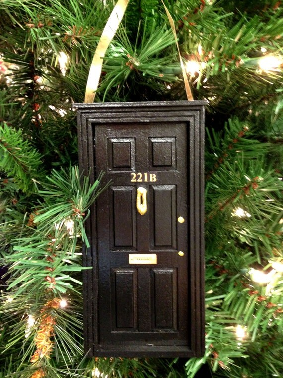 221B Baker Street Wooden Door Ornament | Sherlock Gift Guide
