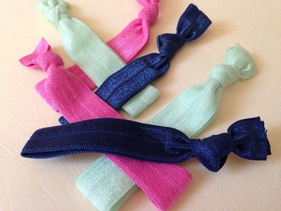 Items Similar To Set Of 6 Fold Over Elastic Hair Ties
