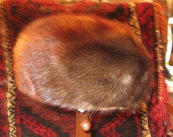 Vtg. Steampunk Fur Pillbox Hat Sold As Is