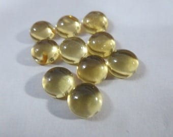 1pc NATURAL CITRINE  round cabochon 8x8 mm 2cts 8mm citrine cabochon round 8mm nice quality 8mm round citrine golden color shade great deal