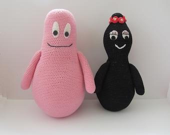 Crochet pattern of Barbapapa and Barbamama, DIY