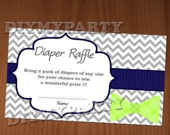 tie baby shower diaper raffle ticket diaper wipe raffle card diapers