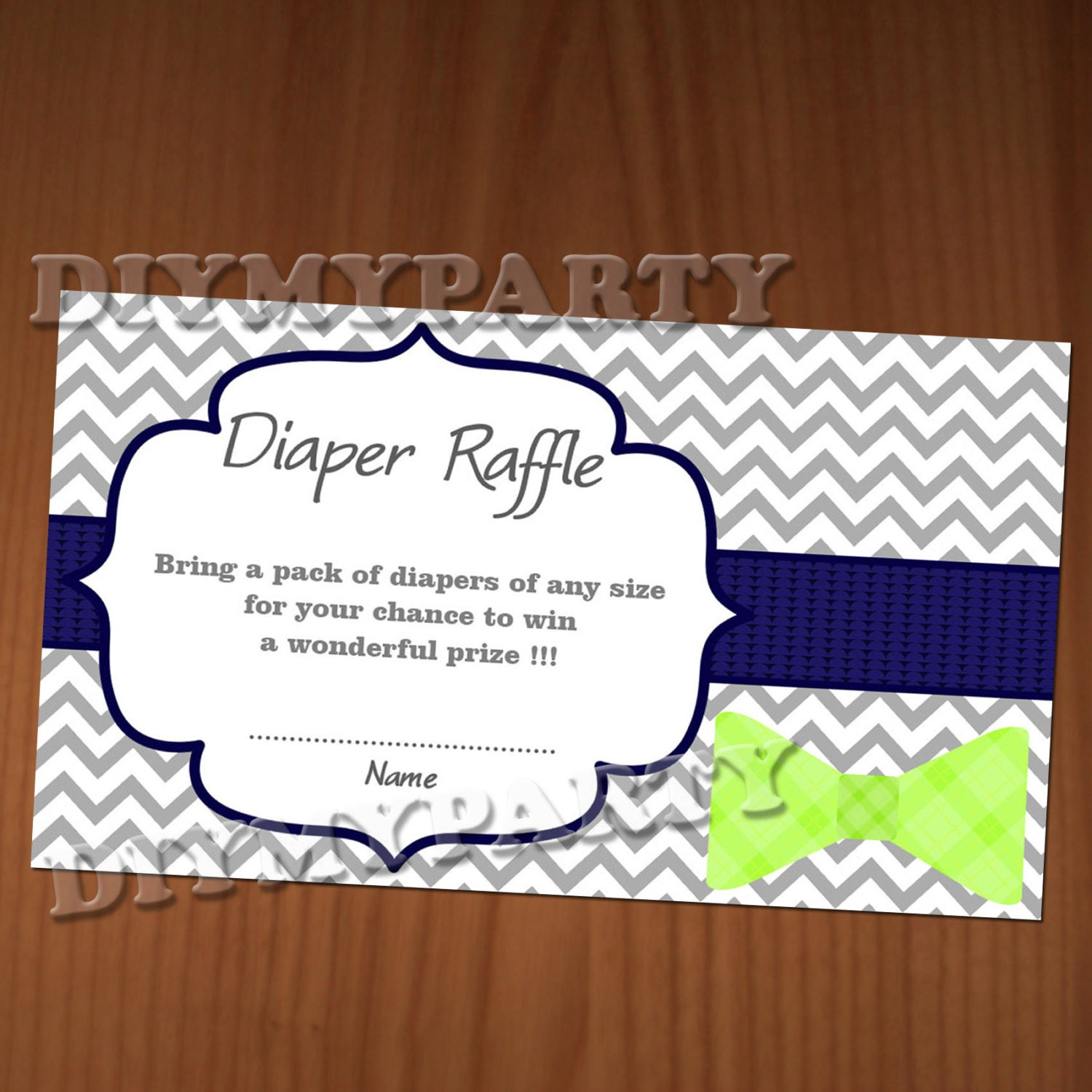 Diaper Raffle Ticket Template Diaper raffle ticket