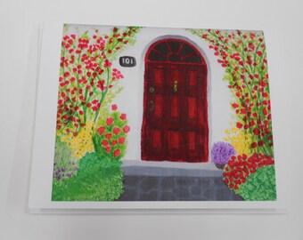 Garden Entrance at 101 Set of 4 Notecards