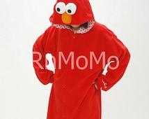 KIGURUMI Cosplay Romper Charactor animal Hooded PJS Pajamas Pyjamas Xmas gift  Adult  Costume sloth  outfit Sleepwear elmo