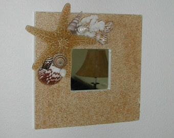 Starfish & Seashell Wall Mirror - Beach Decor - Nautical