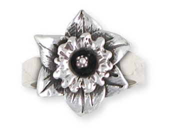 Solid Sterling Silver Daffodil Ring Jewelry  DAF2-R
