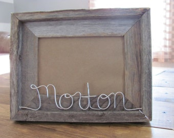 Personalized Rustic Barnwood Picture Frame 5x7