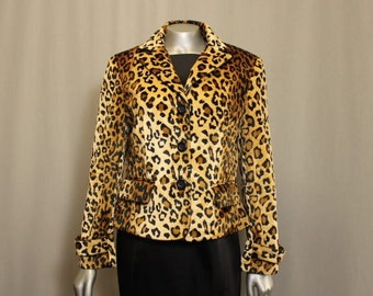 Faux Leopard Jacket for office, school or casual wear.