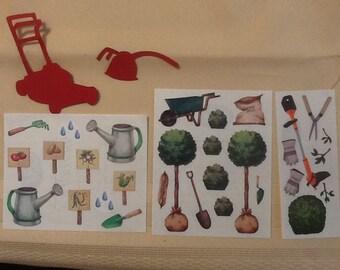 Creative Memories Gardening Stickers and Die Cuts