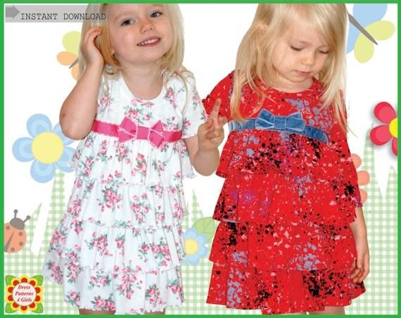 Sugar & Spice Knit Ruffle Girls Dress Patterns Free