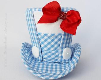 Mini Top Hat , Wonderful Wizard of Oz Hat , Dorothy Costume ,  Dorothy Hat , Wizard of Oz Mini Top Hat , Mad Hatter Hat , Tea Party Hat