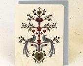 Tree of Hearts Eco-Friendly Fine Art Wood Greeting Card