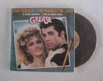 Record Album Grease - dollhouse miniature 1:12 scale